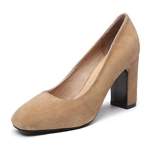 Talla Color De 36 es Zapatos Xtian Tacón Marrón Mujer Amazon 7T6SwCq