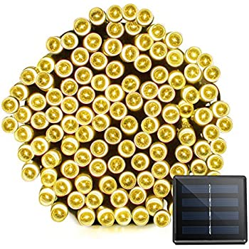 Vmanoo Solar Christmas Lights 72 Feet 22 Meter 200 LED 8 Modes Fairy String Lights for Outdoor, Gardens, Homes, Wedding,Party,Lawn,Tree,Gift,Waterproof(Warm White)