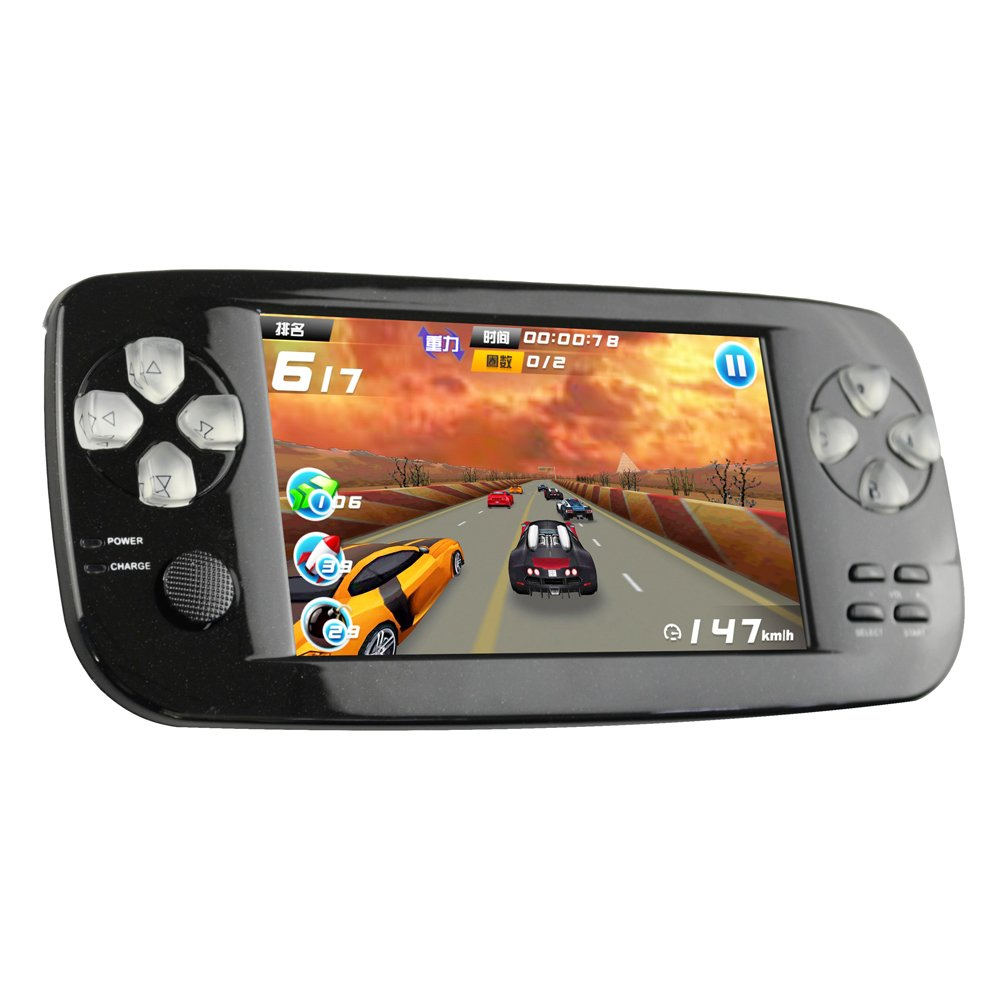 CXYP Handheld Games Consoles,4.3 Inches 4GB Portable Video Game Built in 650 Games with Camera(Black)