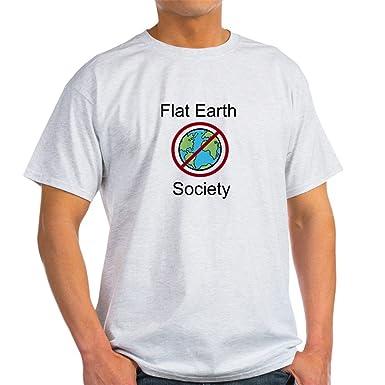 f77944ab Amazon.com: CafePress - Flat Earth Society - 100% Cotton T-Shirt ...