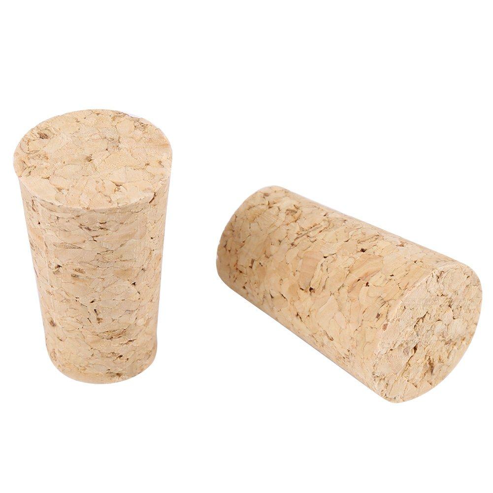 bois de haute qualit/é li/ège conique Bouchons li/ège bois Vin//bouchon de bouteille bi/ère pour cr/éation vin Craft 20*15*35mm Natural wood color 2types 10/pcs Vin Bouchons li/ège naturel