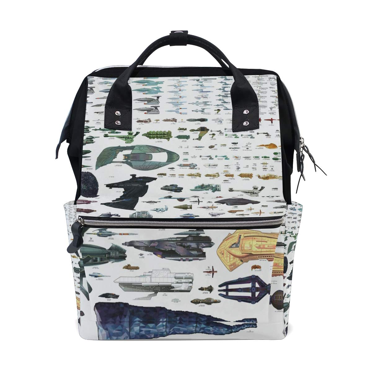 108204c6a262 Amazon.com: Spaceship Backpack Diaper Bag Maternal and Child Package ...