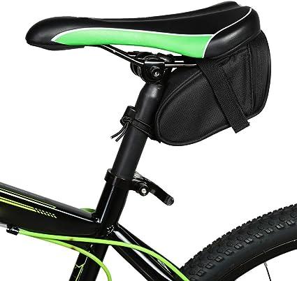 Waterproof Cycling Mountain Bike MTB Reflective Seat Tail Rear Pouch Saddle Bag