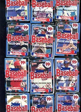 1988 Donruss Baseball Card Set 12 Wax Cello Pack From Case