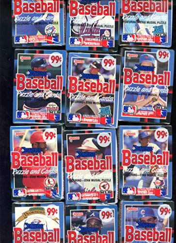 1988 Donruss Baseball Card Set 12 Wax Cello Pack From Case Box Tom Glavine ()