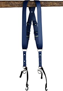 product image for HoldFast Gear Money Maker Vegan 2 Camera Harness (Deep Blue, Small)