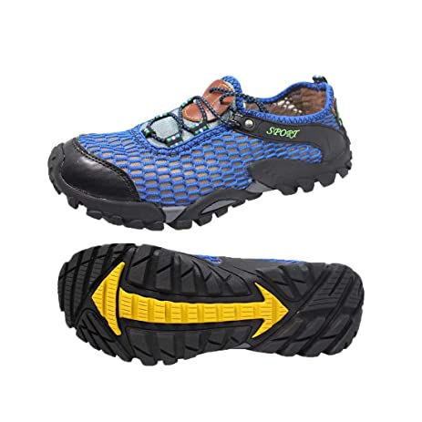 Men's Quick-Dry Water Sports Aqua Shoes Breathable mesh Amphibious Athletic Walking Shoes by ToySharing