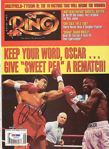 Oscar De La Hoya Signed Magazine Cover - PSA/DNA Authenti...