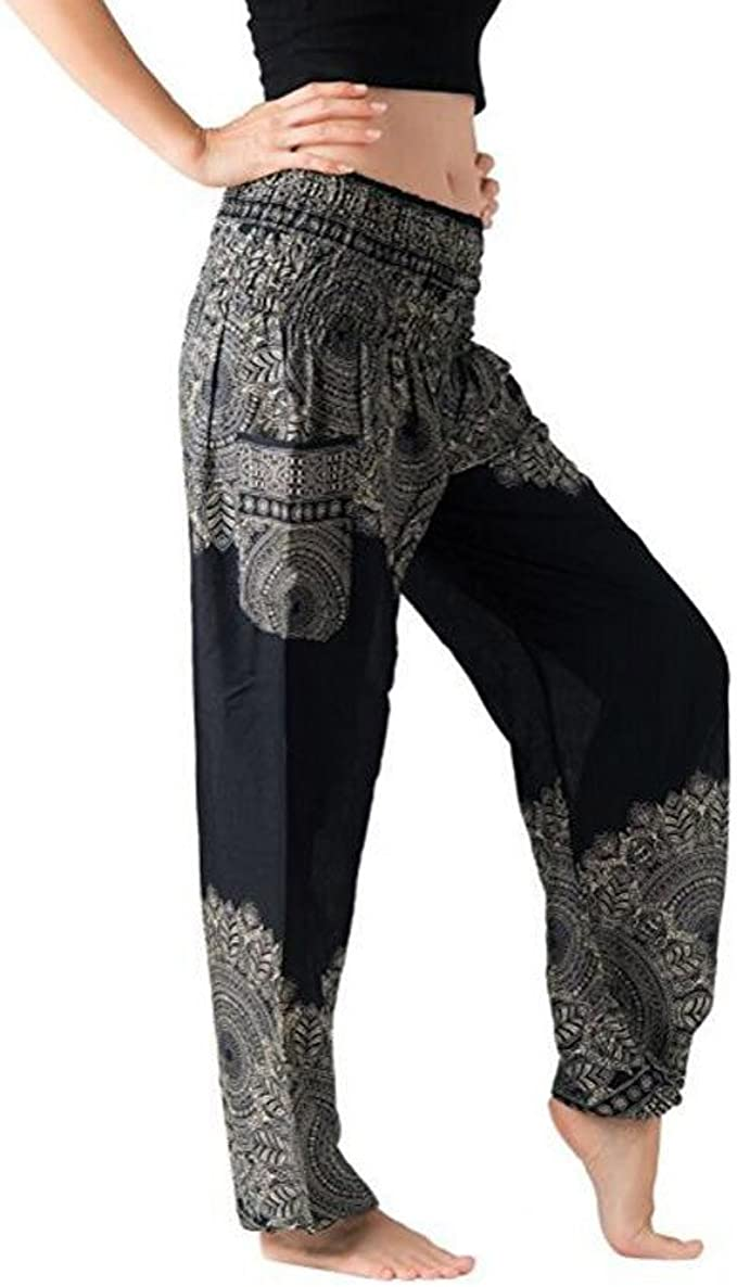 Ladies Yoga Harem Aladdin Palazzo Loose Fit Festival Pants One Size 10 12 14 16
