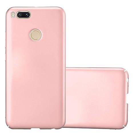 Cadorabo Funda para Xiaomi Mi A1 / 5X en Metal Oro Rosa - Cubierta Protección de Plástico Duro Super Delgada e Inflexible con Antichoque - Case Cover ...