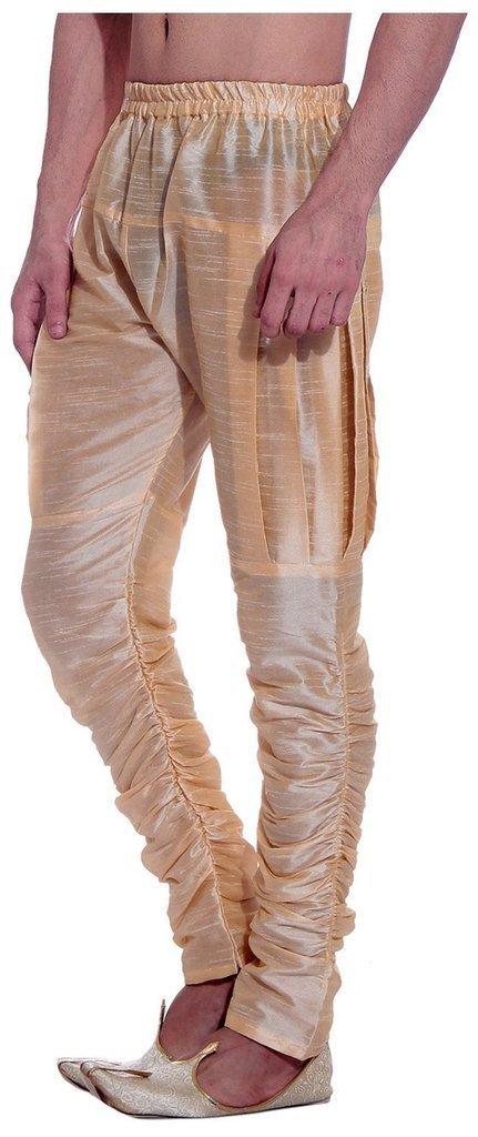 Royal Kurta Men's Art Silk Fine Quality Ready to Wear Harem Pant Free Size Gold by Royal (Image #3)