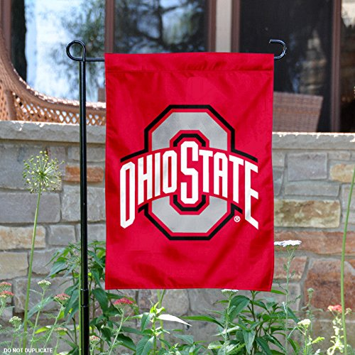 OSU Buckeyes Red Garden Flag and Yard Banner