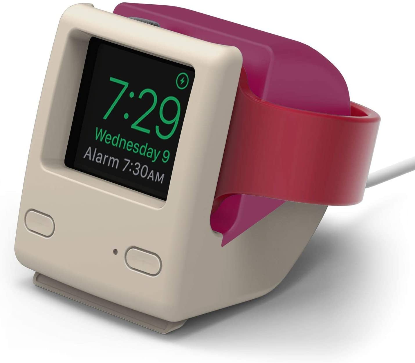 elago W4 Apple Watch Stand Compatible with iWatch Series 6, Series SE, Series 5, Series 4, Series 3, Series 2, Series 1 / 44mm, 42mm, 40mm, 38mm, Support Night Stand Mode [Aqua Pink]
