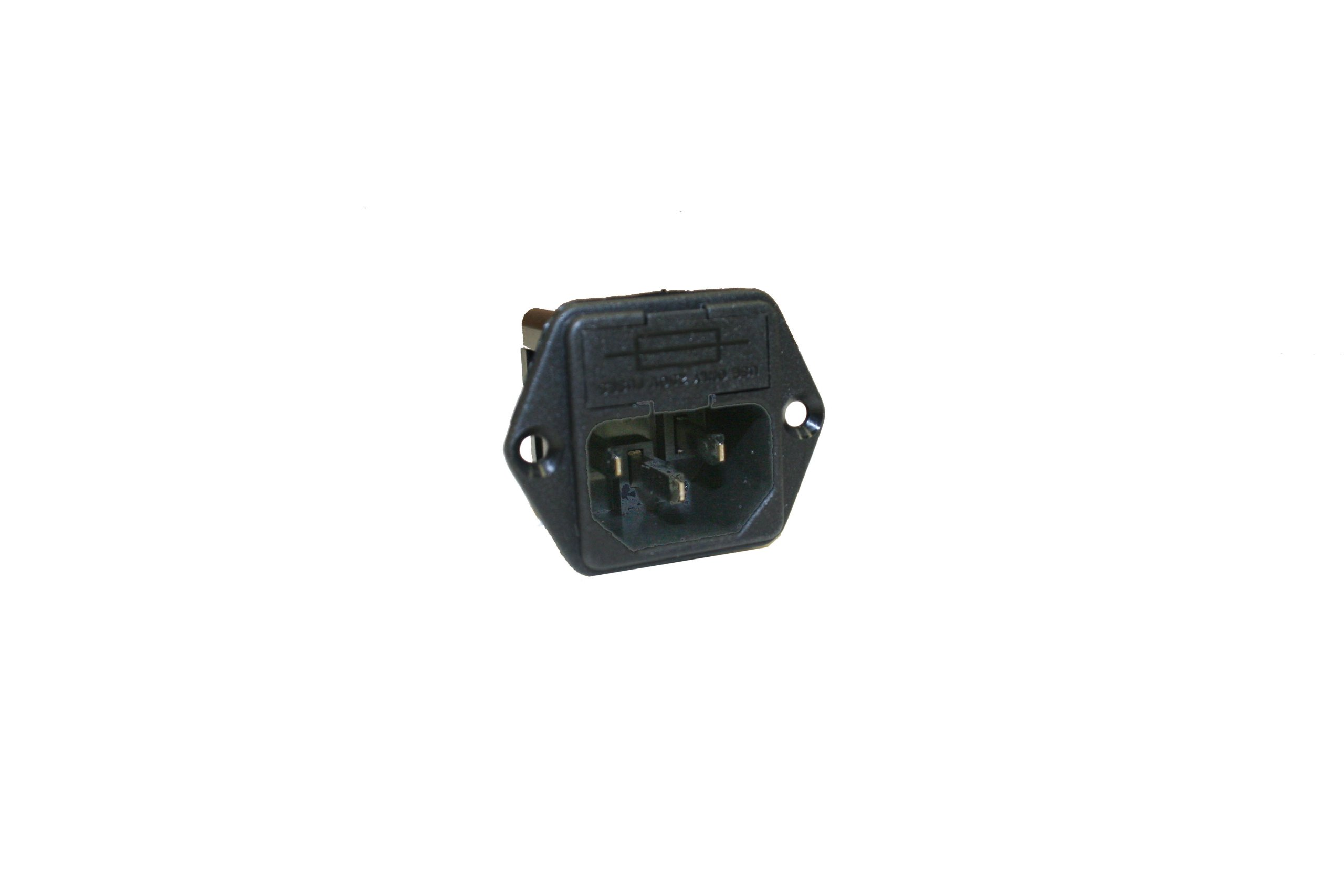 Interpower 83110131 Two Function Single Fused Power Entry Module, C14 Inlet, Single Fused, 10A Current Rating, 250VAC Voltage Rating