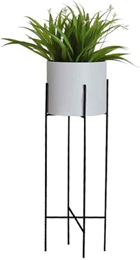 Flower Pot Holder Flower Stand Tall Plant Stands Black Metal Plant Holders Modern Decorative Flower Pots For Indoor Outdoor Balcony Home Garden Color White Size M Small Green Small Gray Amazon Co Uk Garden