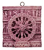 DollsofIndia Chariot Wheel of Konark Temple - Stone Dust Sculpture - 4 x 3.5 inches (RA03)