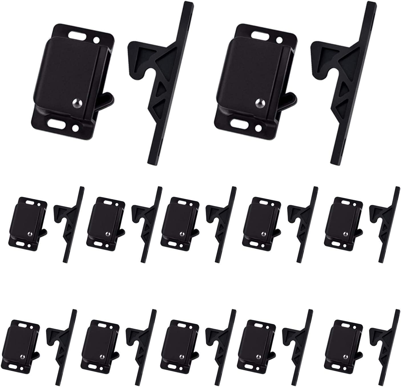 12 Pack Cabinet Door Latch/RV Drawer Latches, 8 Pull Force Latch, Holder for Home/RV Cabinet with Mounting Screws, Perfect for RV, Camper, Motorhome, Trailor, OEM Replacement