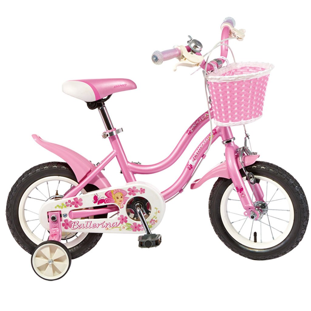 子供の自転車ハイカーボンスチールベビーバイク2-4歳の自転車12インチキッズベビーカー、ピンク/ピンクホワイト (Color : Pink) B07CV6K8R4