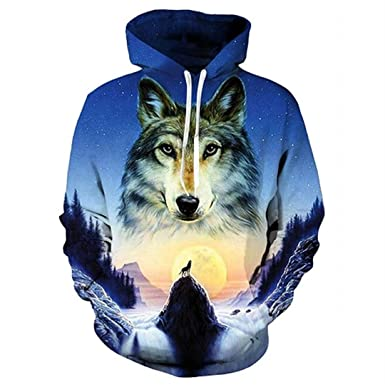 Fowerty 3D Hoodie Fashion Hat Sweatshirt Men Women Clothing