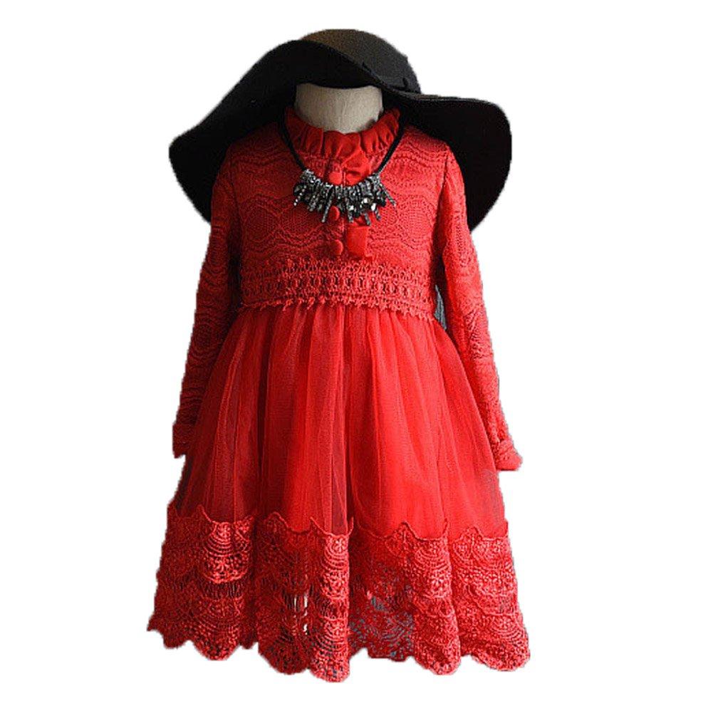 Colorful Childhood DRESS ガールズ B01M9I7TZD  レッド XL