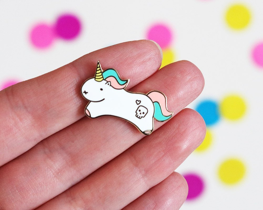 Collectable Unicorn Enamel Pin Badge Kids Childs Girls Accessory
