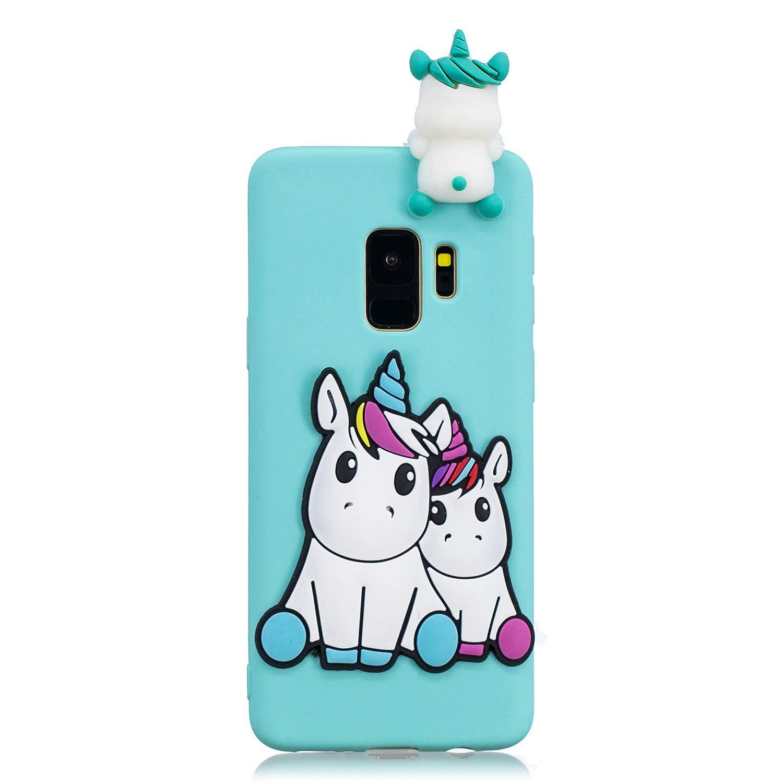 Blanc Silicone TPU Ultra Fine Slim Gel Housse Etui Case Cover Bumper Antichoc E-Mandala Coque Compatible pour Samsung Galaxy S6 Chaton