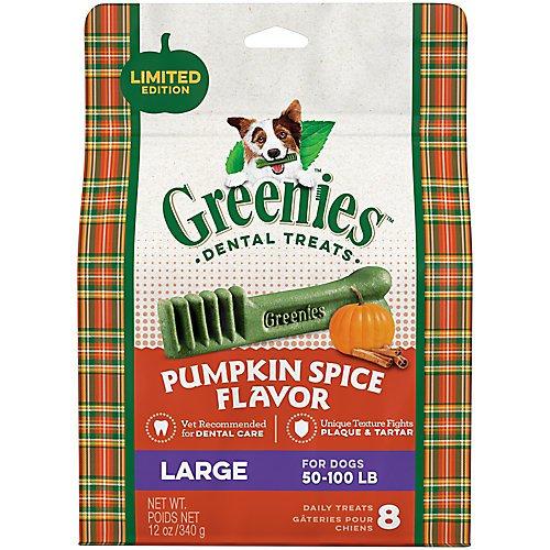 Greenies Pumpkin Spice Flavor Large