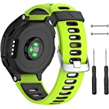 NotoCity Silicone Watch Band Replacement Solft Silicone Strap Compatible Forerunner 230/ 220/ 235/ 620/ 630/ 735XT…