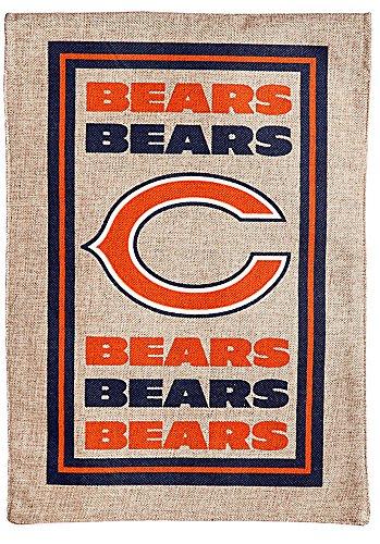 Evergreen NCAA/NFL/NHL Burlap Garden Flag (Chicago Bears) For Sale