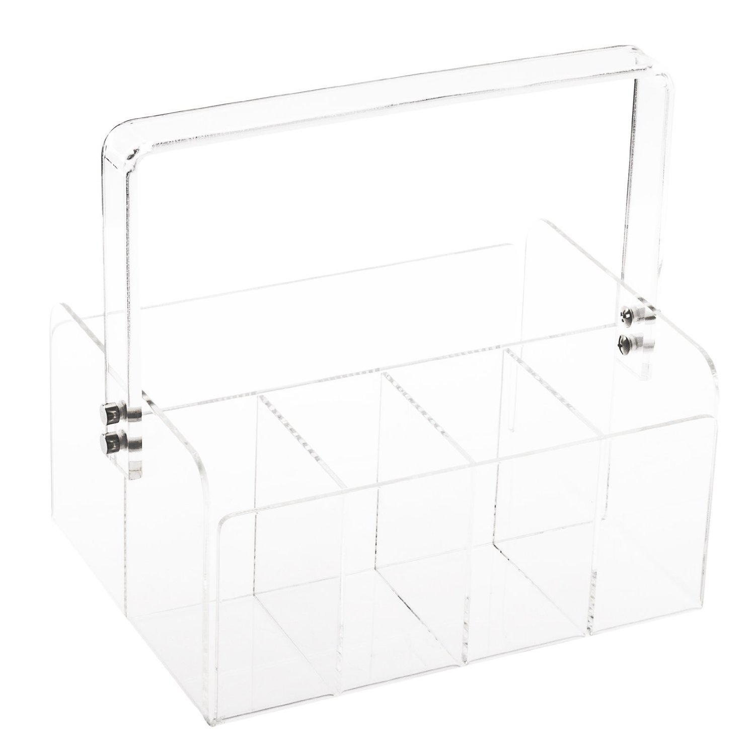 Huang Acrylic Portable Silverware Caddy, Clear by Huang Acrylic