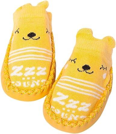 Fossen Primeros Pasos Bebe Calcetines corto Zapatos Bebe Primeros ...