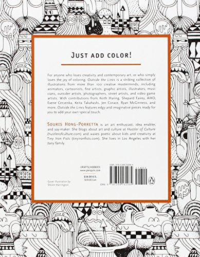 outside the lines an artists coloring book for giant imaginations - Outside The Lines Coloring Book