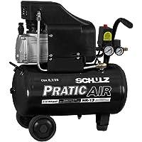 Motocompressor de Ar 8.2/25 Litros 2HP CSA-8,2/25L Pratic Air Schulz - 220V
