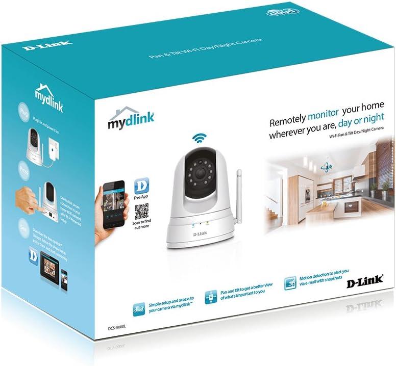 Cámara de vigilancia D-Link DCS-5000L con visión nocturna y detector de movimiento por 43,99€
