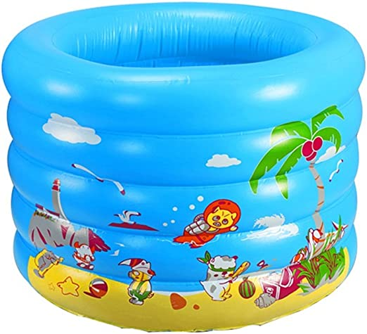 LYM & bañera Plegable Bañera Inflable Redonda Piscina Inflable ...
