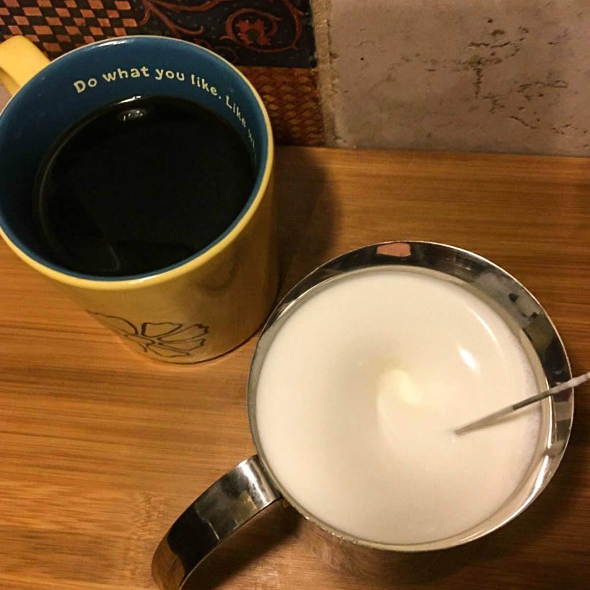 Leche de Mano Latte Espumador de Leche para Caf/é Espumador Cappuccino Leche Mezclador de Acero Inoxidable Matcha Mini Bebida El/éctrico Mezclador Bater/ía Nosii Port/átil