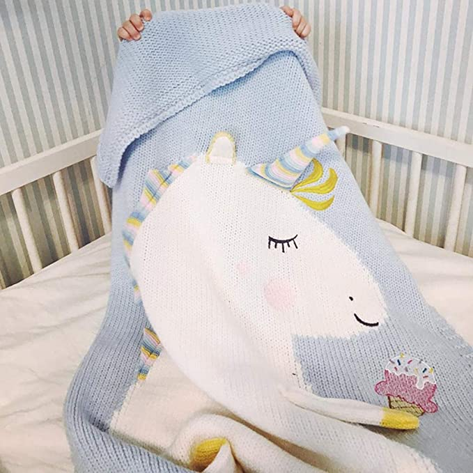 Odot Manta de Punto para Bebé Recién Nacido Unicornio, Suave ...
