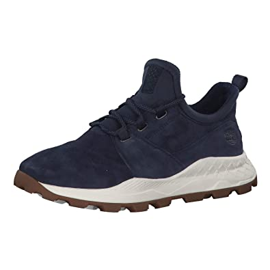 5d0f19428d Timberland Mens Brooklyn Oxford Suede Textile Navy Trainers 7.5 US