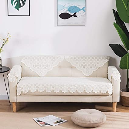 Fantastic Amazon Com Sqinaa Lace Sofa Cover White Slipcovers For Pabps2019 Chair Design Images Pabps2019Com