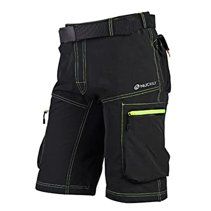 45a20dc9b NUCKILY Summer MTB Shorts Mens Sports Bike Riding Short Pants Leisure  Cycling Clothing Black Small