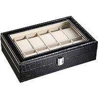CRITIRON 12 Slot Caja para Relojes con Cerradura