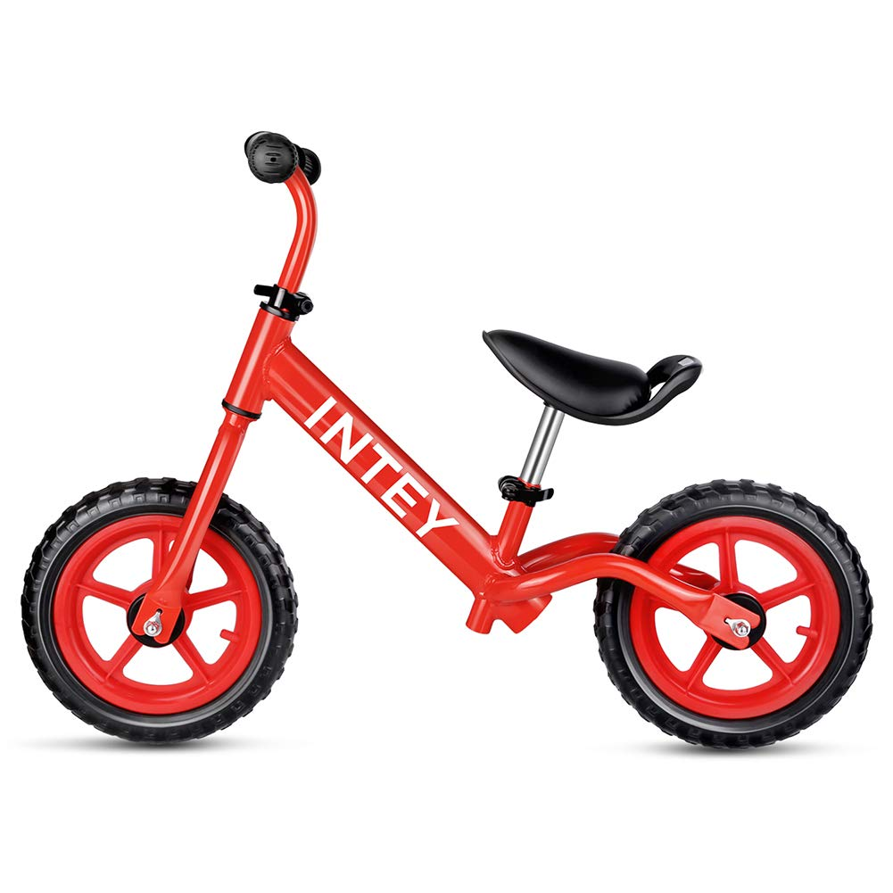 INTEY Toddler Balance Bike, 12 Inch Kids Bike for 2-5 Years Boys & Girls - No Pedal Sport Walking Bike with Adjustable Handlebar and Seat