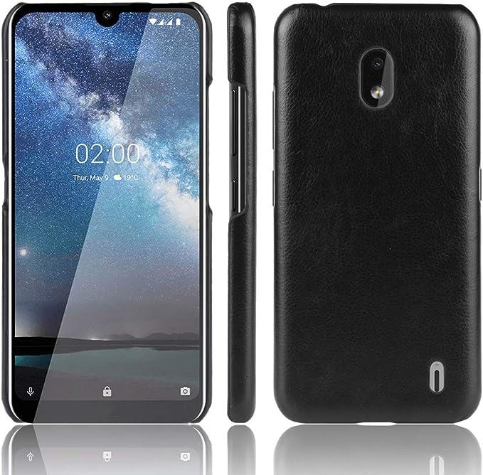 Funda estanca para teléfono móvil Caja del Teléfono De La PC A Prueba De Golpes Litchi Textura + PU Caso For Nokia 2.2 (Negro) (Color : Black): Amazon.es: Electrónica