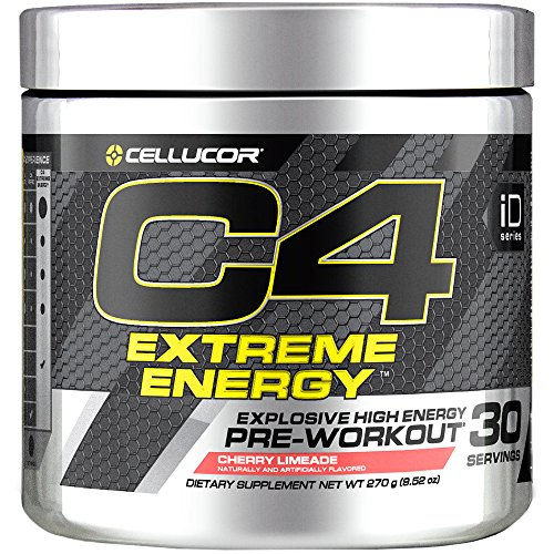 C4 Extreme Energy Pre Workout Powder Cherry Limeade Sugar Free Preworkout Energy Supplement for Men Women 300mg Caffeine beta Alanine Creatine 30 Servings