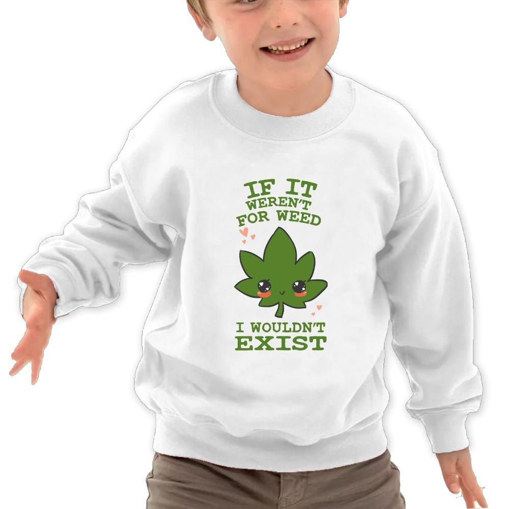 Mkajkkok If It Werent for Weed Its Everyday Bro Kids Fashion Round Neck Long Sleeve T-Shirts
