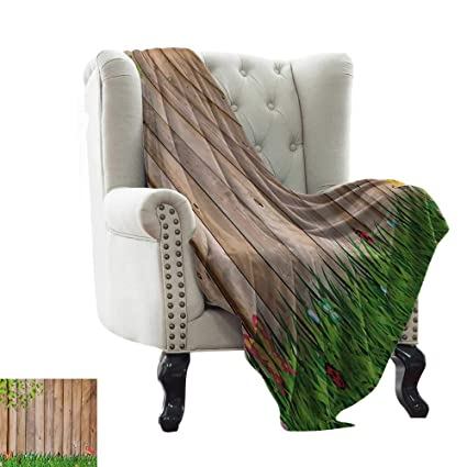 Amazon.com: LsWOW Chunky Knit Blanket Farmland,Fresh Spring ...