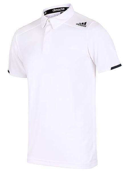 adidas Camiseta Deportiva Para Hombre Blanco Blanco Medium
