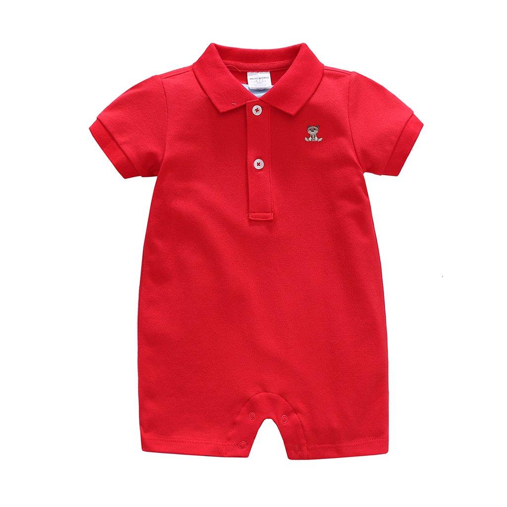 Vine Bambino Pagliaccetti Manica Corta Body per Bimbi Polo Tutina Bambini Cotone Outfits C170505HYP001V