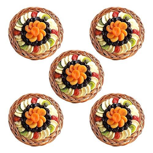 Gourmet Holiday - Round Medium Premium Dried Fruit Gift Basket - KOSHER