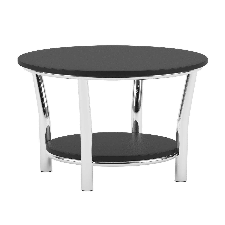 Amazon Winsome Wood Maya Round Coffee Table Black Top Metal